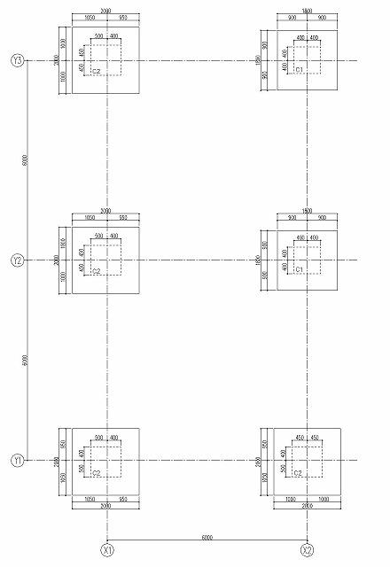 基礎伏図の作図 基礎の記入